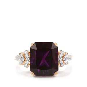 Moroccan Amethyst & Diamond 18K Gold Lorique Ring MTGW 5.34cts