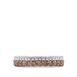 2/3ct Champagne Diamond Rose Midas Ring