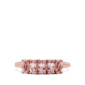 1.08ct Cherry Blossom™ Morganite 9K Rose Gold Ring