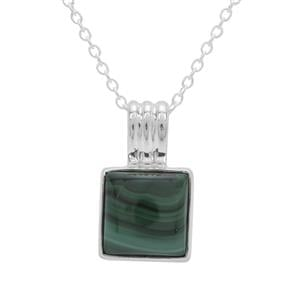 Malachite Aryonna Pendant Necklace in Sterling Silver 5.67cts