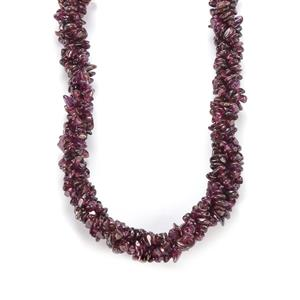 Rhodolite Garnet Nugget Necklace in Sterling Silver 310cts