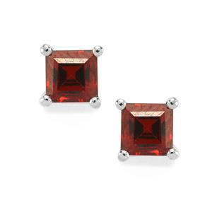 Nampula Garnet Earrings in Sterling Silver 0.80ct