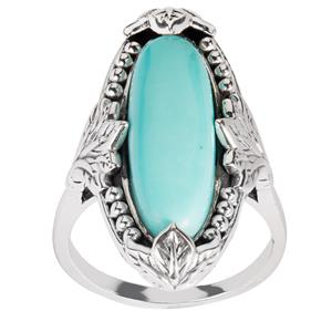 Sonora Turquoise Samuel B Ring in Sterling Silver 5.25cts