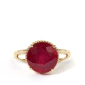 Thai Ruby Ring in 9K Gold 5.80cts