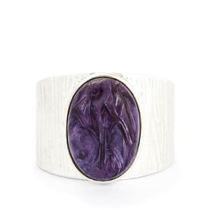 6.10ct Charoite Sterling Silver Aryonna Ring