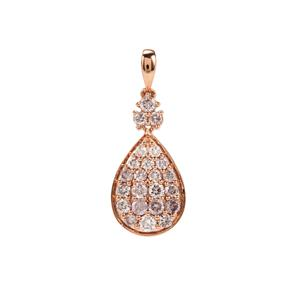 Natural Pink Diamond Pendant in 18K Rose Gold 0.78ct