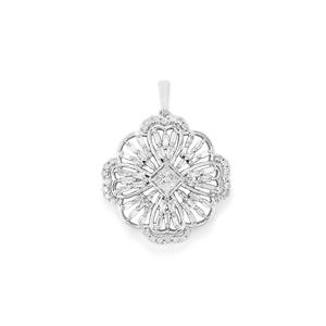 Diamond Pendant in 10k White Gold 0.51ct