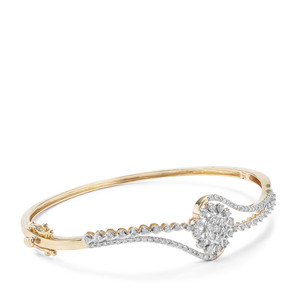 Argyle Diamond Bangle in 9K Gold 1cts