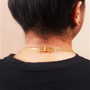Necklace Layering Clasp in Gold Tone Sterling Silver
