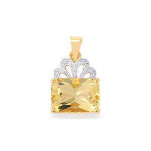 Serenite Pendant with Diamond in 9K Gold 6.34cts