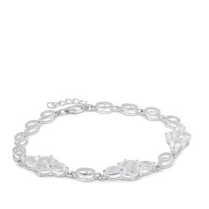 4.80ct Concave Cut Blue Moon Quartz Sterling Silver Bracelet