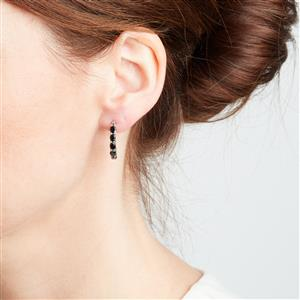 Black Spinel Earrings in Sterling Silver 2.42cts