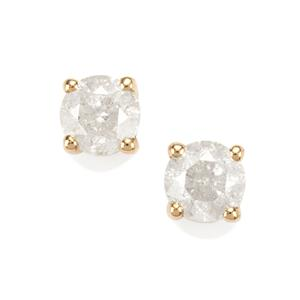 Diamond Earrings in 10k Gold 1cts