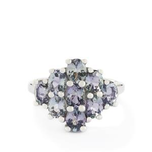 3.30ct Bi-Colour Tanzanite Sterling Silver Ring