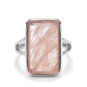 Morganite Sarah Bennett Ring in Sterling Silver 8.35cts