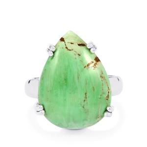 Australian Variscite Ring in Sterling Silver 11cts