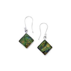 13.03ct Cyber Web Chrysocolla Sterling Silver Aryonna Earrings