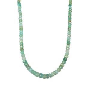 Aquaprase™ Graduated Bead Necklace in Sterling Silver 76cts