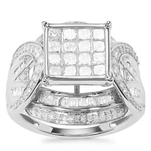 Diamond Ring in 9K White Gold 1.70ct