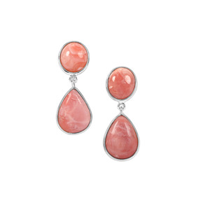 Pink Lady Opal Earrings in Sterling Silver 16.09cts