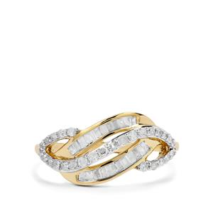 Diamond Ring in 9K Gold 0.47ct