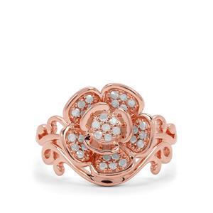 1/4ct Diamond Rose Midas Ring