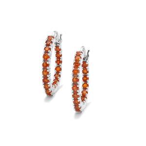Loliondo Orange Kyanite Earrings in Sterling Silver 5.84cts