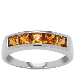 Golden Tourmaline Ring in Sterling Silver 1.12cts