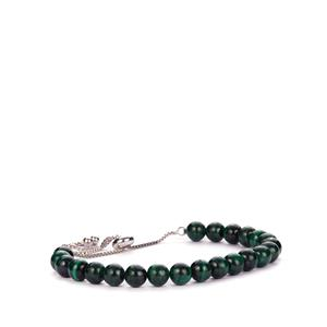 Malachite Slider Bracelet in Sterling Silver 51cts