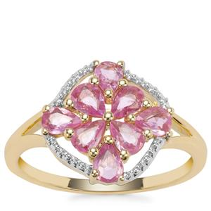 Sakaraha Pink Sapphire Ring in 9K Gold 1.06cts