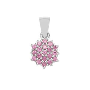 Sakaraha Pink Sapphire Pendant in Sterling Silver 0.58cts