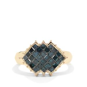 Blue Diamond Ring in 9K Gold 1.45cts