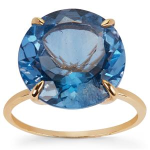 Baiyang Colour Change Fluorite Ring in 9K Gold 12.68cts