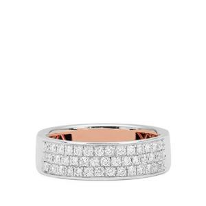 1/2ct Diamond Platinum 950 Tomas Rae Ring (Inner Metal 18K Gold)