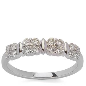 Internally Flawless Diamond Ring in Platinum 950 0.51cts