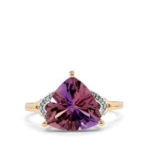 Anahi Ametrine & Diamond 10K Gold Ring ATGW 3.63cts
