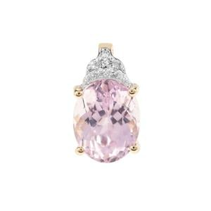 Kolum Kunzite Pendant with Diamond in 9K Gold 3.62cts