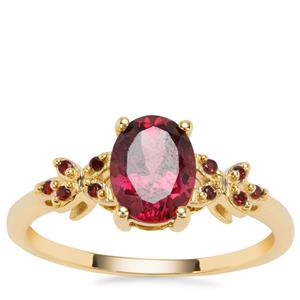 Mahenge Purple Garnet Ring with Rajasthan Garnet in 9K Gold 1.59cts