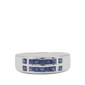 1.07ct Blue Sapphire Sterling Silver Ring