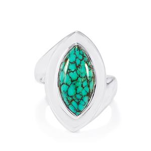 5ct Tibetan Turquoise Sterling Silver Ring