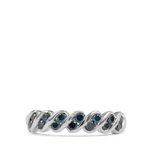 Blue Diamond Ring in 10K White Gold 0.50ct