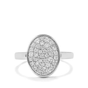 Canadian Diamond Ring in 18K White Gold 0.53ct