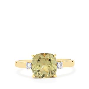 Csarite® Ring with Diamond in 18K Gold 2.46cts