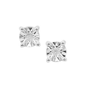 Diamond Earrings in Sterling Silver
