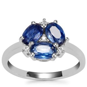Daha Kyanite Ring with White Topaz in Sterling Silver 2.10cts