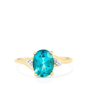 Batalha Topaz Ring with Diamond in 9K Gold 2.20cts