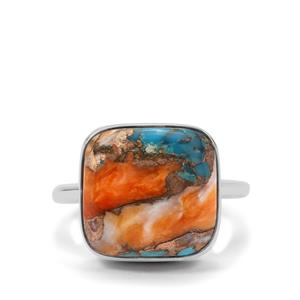 Oyster Turquoise Ring in Sterling Silver 10.38cts
