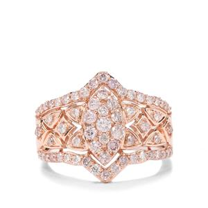 1ct Pink Diamond 9K Rose Gold Tomas Rae Ring