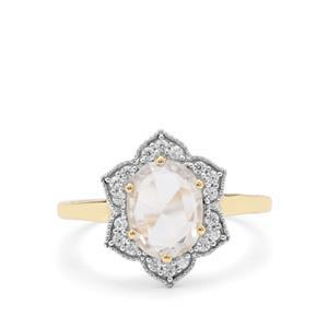 Rose Cut Ratanakiri Zircon Ring in 9K Gold 2.10cts