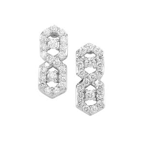 1/2ct Argyle Diamond 10K White Gold Tomas Rae Earrings